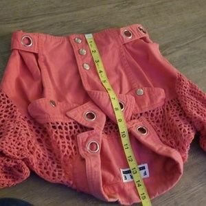 Cool lace-back cropped jacket